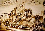 рисунки из песка — прибыльное творчество без капиталовложений