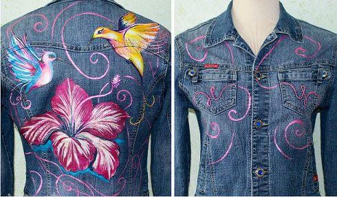 Идея бизнеса, роспись футболок, джинсов, сумок акриловыми красками, фото 4