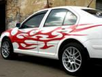 виниловые надписи на автомобиле - весьма эффективна реклама!