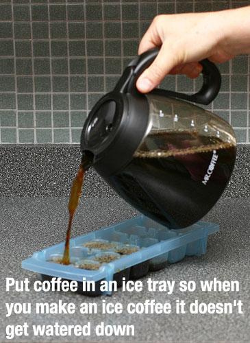 Замороженный кофе в кубиках